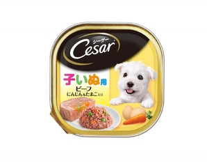 CE50N シーザー 2ヶ月からの子犬用 ビーフ にんじん&たまご入り 100g