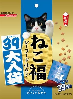 [日清ペットフード] ねこ福 39大入り シーフード味 117g