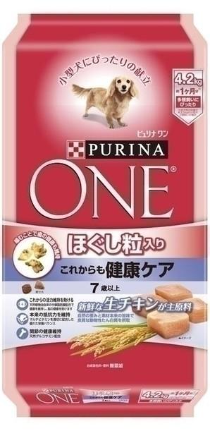 [ネスレピュリナ] ピュリナワン ドッグ ほぐし粒入り 7歳以上 これからも健康ケア チキン 4.2kg