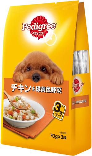 P116 ペディグリー 成犬用 チキン&緑黄色野菜 70g×3袋