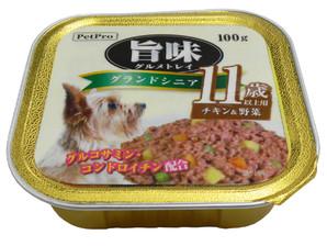 [ペットプロ] 旨味グルメ トレイ シニア11歳以上用 チキン・ビーフ&野菜 100gX24個