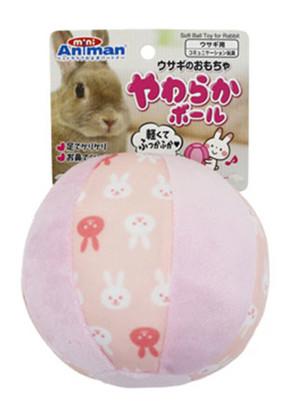 [ドギーマンハヤシ] ウサギのおもちゃ やわらかボール