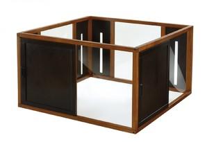 [リッチェル] 木製スクエアペットルーム120-120 ブラウン