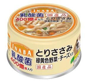 [いなばペットフード] いなば乳酸菌とりささみ緑黄色野菜チーズ80g