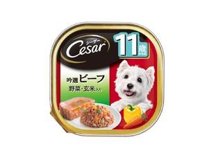 CE61N シーザー 11歳 吟選ビーフ 野菜・玄米入り 100g