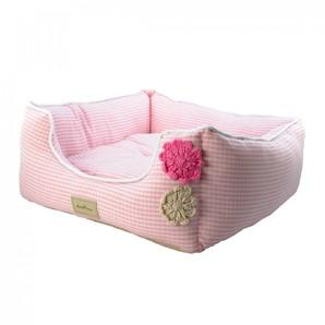 [ラブリー・ペット] Ante Prima アンテフラワー ベッド クッション付き ピンク Lサイズ