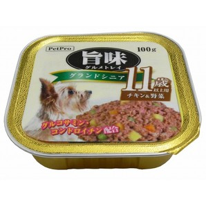 [ペットプロ] 旨味グルメトレイ グランドシニア 11歳以上用チキン&野菜 100g
