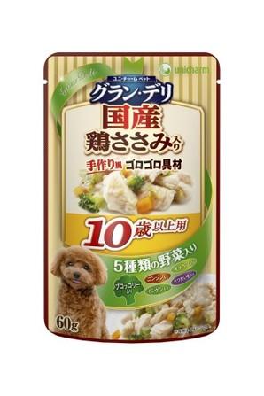 [ユニチャーム] 愛犬元気グラン・デリパウチ 10歳以上用 鶏ささみ・ブロッコリー入り 60g