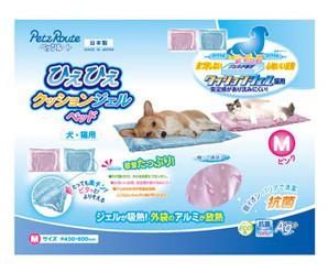 [ペッツルート] ひえひえクッションジェルマット 抗菌M ピンク