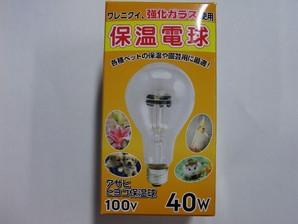 ヒヨコ保温電球 40W 硬質ガラス