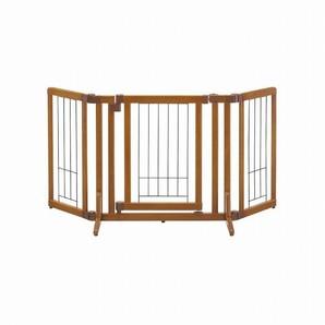 [リッチェル] ペット用 木製おくだけドア付ゲート S