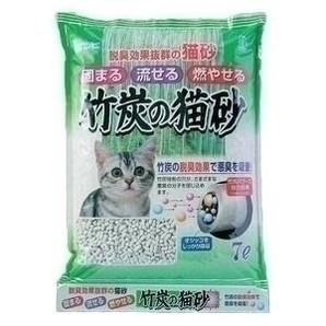 [ボンビアルコン] ボンビ 竹炭の猫砂 7L