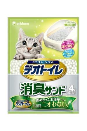 [ユニチャーム] 1週間消臭抗菌デオトイレ専用消臭サンド4L