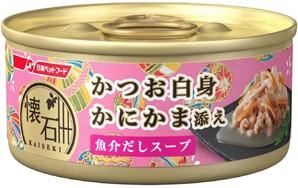 [日清ペットフード] 懐石缶kgC9スープかつおかにかま 60g