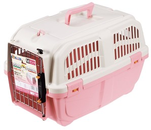 [ドギーマンハヤシ] イタリア製ハードキャリー DOGGY EXPRESS M ピンク