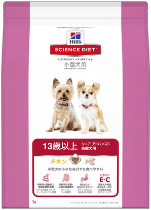 [日本ヒルズ] サイエンス・ダイエット シニアアドバンスド 小型犬用高齢犬用 3kg