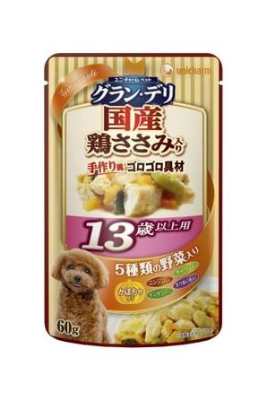 [ユニチャーム] 愛犬元気グラン・デリパウチ 13歳以上用 鶏ささみ・かぼちゃ入り 60g
