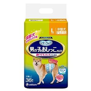 [ユニ・チャーム] マナーウェア 男の子用おしっこオムツ Lサイズ 中型犬 36枚