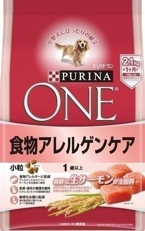 [ネスレピュリナ] ピュリナワン ドッグ 1歳以上 食物アレルゲンケア 小粒 サーモン 2.1kg