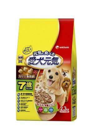 [ユニチャーム] 愛犬元気 7歳以上用 ささみ・緑黄色野菜・小魚入り 2.3kg