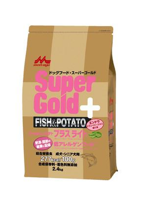 [森乳サンワールド] スーパーゴールド フィッシュアンドポテト プラスライト 肥満・関節の健康に配慮 2.4kg