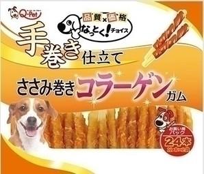 [九州ペットフード] なっとくチョイス 鶏ささみ巻コラーゲンガム 24本