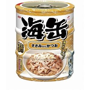 [アイシア] 海缶ミニ3P ささみ入りかつお 60g×3缶