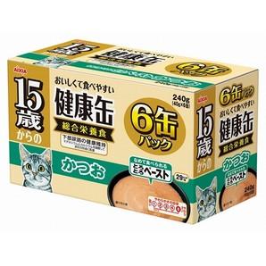 [アイシア] 健康缶 15歳からのとろとろペースト かつお 6P