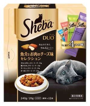 SDU22 シーバ デュオ 魚介とお肉のチーズ味セレクション 240g
