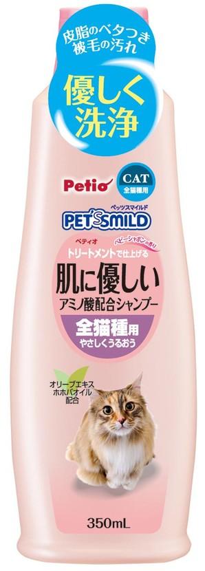[ペティオ] ペッツスマイルド 肌に優しい アミノ酸配合シャンプー 全猫種用 350mL