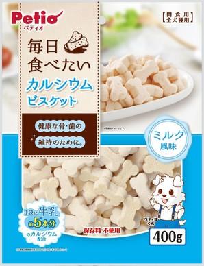[ペティオ] 毎日食べたいカルシウムビスケット ミルク風味 400g W12933