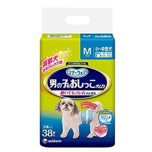 [ユニ・チャーム] マナーウェア 男の子用 おしっこオムツ Mサイズ 小~中型犬 38枚