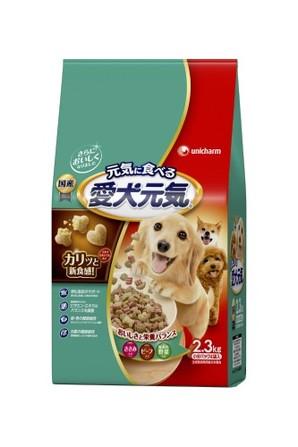 [ユニチャーム] 愛犬元気 ささみ・ビーフ・緑黄色野菜入り 2.3kg