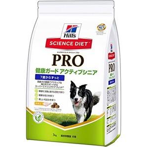 [日本ヒルズ] SCIENCE DIET PRO 犬用 健康ガード アクティブシニア 7歳からずっと 3kg <専門店様商材>