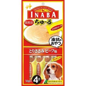 [いなばペットフード] INABA ちゅ~る とりささみビーフ味 14g×4本 D-103
