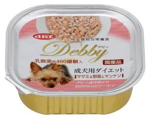 [デビフペット] デビィ 成犬用ダイエット ササミ&野菜とマンナン 100g