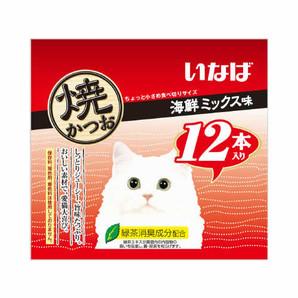 [いなばペットフード] 焼かつお12本入り海鮮ミックス味12本