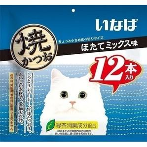 [いなばペットフード] いなば焼かつお12本ほたてミックス味 QSC-25