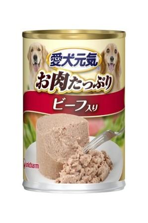 [ユニチャーム] 愛犬元気 缶 ビーフ 375g