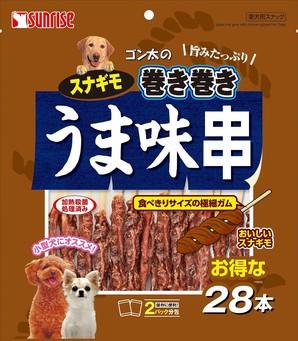 [マルカン]ゴン太のスナギモ巻き巻き うま味串 28本