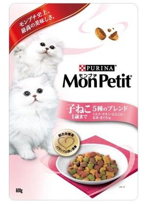 [ネスレピュリナ] モンプチBAG 子ねこ用5種のブレンド ミルク・チキン・にんじん・お米・まぐろ味