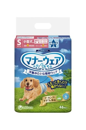[ユニチャーム] マナーウェア 男の子用 Sサイズ 小型犬用 46枚