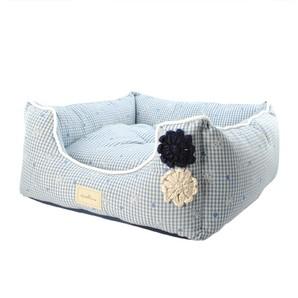 [ラブリー・ペット] Ante Prima アンテフラワー ベッド クッション付き ブルー Lサイズ