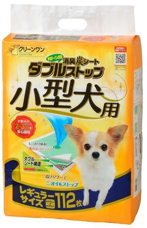 [シーズイシハラ] クリーンワン 消臭炭シート ダブルストップ小型犬用 レギュラー 112枚