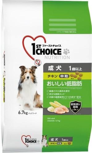 [アース・ペット] ファーストチョイス 成犬中粒チキン 6.7kg