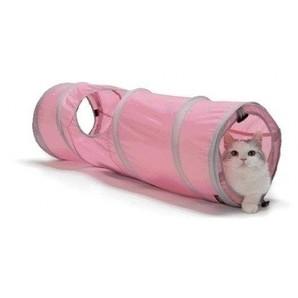 [猫壱] キャット トンネル スパイラル ピンク