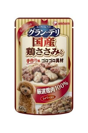 [ユニチャーム] 愛犬元気グラン・デリパウチ 成犬用 レバー・鶏ささみ入り 60g