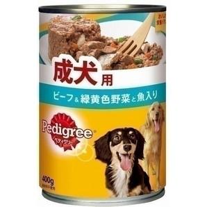P11 ペディグリー 成犬用 ビーフ&緑黄色野菜と魚入り 400g