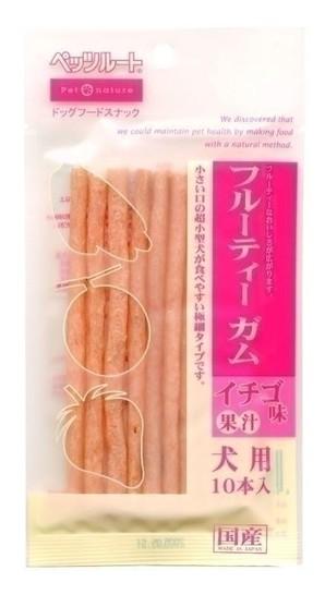 [ペッツルート] ペッツルートフルーティーガムイチゴ味10本入