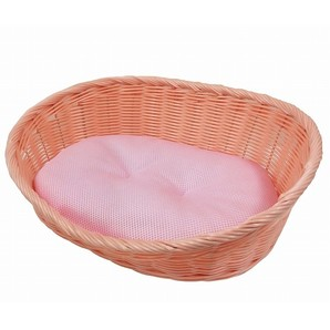 [ペットプロ] 手編みカラーベッドS ライトピンク